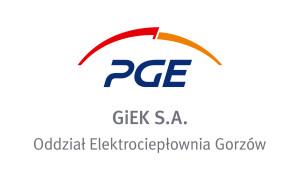 logo PGE GiEK SA Elektrocieplownia Gorzow pion RGB
